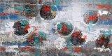 Pintura al óleo abstracta de la reproducción