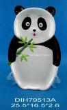 Piatto Panda-A forma di di ceramica fatto a mano del biscotto/caramella/grafico a torta