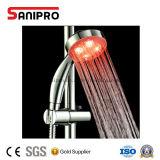Ducha de la mano del sensor LED de la temperatura del agua de Sanipro