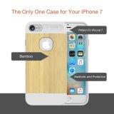 Caja protectora de madera delgada 2016 del silicón de la serie de la naturaleza para el iPhone