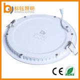 18W Slim Recessed Light Ce e Certificados de RoHS Luminárias de teto LED redondas para interior