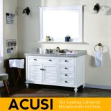 Mobília simples americana do banheiro do gabinete de banheiro da vaidade do banheiro da madeira contínua do estilo da alta qualidade por atacado superior nova (ACS1-W55)