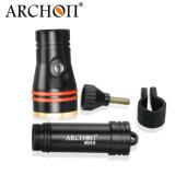 Горячий Archon W17V-II Ce&RoHS сбывания факел пикирования электрофонаря подныривания Scuba съемки Snoot 1200 люменов широкоформатный фотографируя Macro для Macroshot