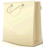 La insignia del bolso/de los bolsos de compras del papel de Kraft modificó para requisitos particulares