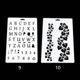 Алфавит помечает буквами корабль для того чтобы затрафаретить для Scrapbooking