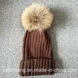 ニット帽子のためのオンライン手作りレアルラクーンファーPOM