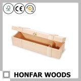 절묘한 1개의 병 나무로 되는 포도주 상자 나무로 되는 선물 상자