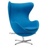 Tela clássica moderna/cadeira de couro do ovo da cadeira do braço do lazer