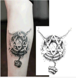 3D стикер Tattoo кроны Totem 5 элементов водоустойчивый временно