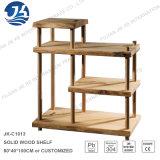 Gabinete de madera natural con marco de acero inoxidable Pilar