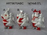"""12 """" Hx8 """" L regalo diritto Craft-3asst della decorazione della casa di natale"""