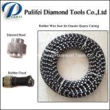 돌 채석장 절단 철사는 광업 절단기를 위해 소결한 다이아몬드 구슬로 보았다