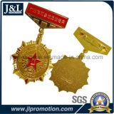 高品質の銅の軍の軍隊メダル光沢がある金張り