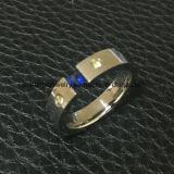 Taglio all'ingrosso &#160 del collegare dei monili del corpo; Anello dell'acciaio inossidabile (CZR2590)