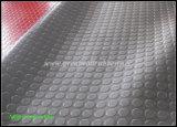 Pavimentazione antiscorrimento, stuoia rotonda sparsa della gomma del tasto