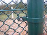 Frontière de sécurité de maillon de chaîne de la qualité Galvanized/PVC en vente