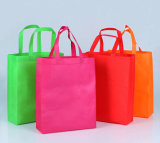 Bolso de compras no tejido promocional plegable reutilizable de la tela del supermercado grande