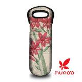 Solo botella de neopreno titular de la bolsa de viaje de protección para el viaje / picnic que lleva rojo, botella de vino blanco