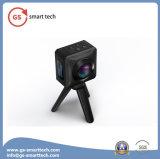 Câmaras de vídeo largas dobro panorâmicos WiFi DV impermeável da câmara digital da ação de Fisheyelens do ângulo de um esporte DV de 360 graus