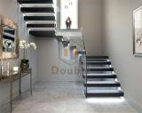 Escalera de cristal de la decoración casera/escalera moderna