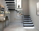 Hauptdekoration-Glastreppenhaus/modernes Treppenhaus