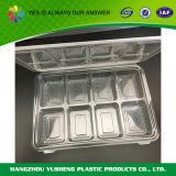 El envase de alimento plástico del compartimiento, quita el envase del acondicionamiento de los alimentos