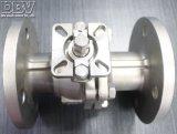 La soupape 2-PC a bridé robinet à tournant sphérique du flottement CF8