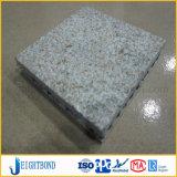 El granito decorativo del panel tiene gusto del panel de aluminio del panal para la decoración al aire libre de la pared