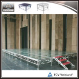 알루미늄 휴대용 아크릴 단계 플래트홈 단계