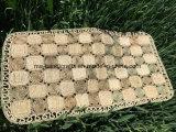Doormat hecho a mano natural de la alfombra de la paja, mantas de la estera del amortiguador de la estera del asiento