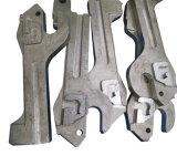 Bâti perdu de cire pour des pièces de machines de construction