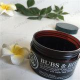 frasco de creme plástico de 30g Brown com o tampão de parafuso para o empacotamento do cuidado de pele (PPC-PB-062)