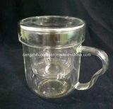 Taza de té de cristal vendedora caliente del fabricante con Infuser