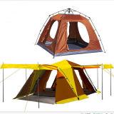 Um quarto um Salão barraca dobro de acampamento ao ar livre de muitos povos