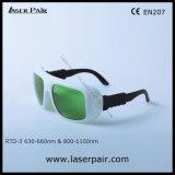 630 - 660nm Dir Lb2 & 800 - 1100nm Lb5 de Bril van de Veiligheid van de Laser Dir voor 635nm Rode Laser + 808nm, 980nm de Lasers van Dioden met Frame 36