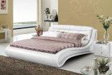 Neuer eleganter Entwurfs-modernes echtes Leder-Bett (HC556) für Schlafzimmer