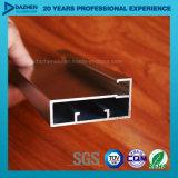 6063 passte Aluminiumaluminium anodisiertes Profil für Fenster-Tür-Flügelfenster an