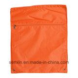 Sac de sac à dos de tissu de polyester, sac cosmétique