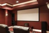 Écran incurvé de bâti avec de l'argent 3D pour la maison, cinéma