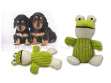環境に優しいペットは緑カエル犬のおもちゃのピカピカのAnimall犬のおもちゃをもてあそぶ