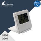 Relógio Mini Digital Pocket Alarm Flip com temperatura para viajar
