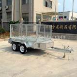Reboque de carga fechado com sistema de suspensão