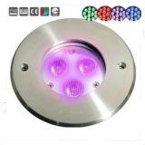 indicatore luminoso subacqueo del raggruppamento di 3X3w 3in1 RGB LED