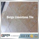 Azulejo de suelo amarillento de la piedra caliza del material de construcción para la decoración del cuarto de baño