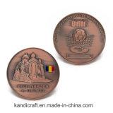 Pièce de monnaie de cuivre antique de sport de souvenir du football/football en métal