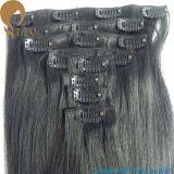 7pieces, зажим человеческих волос 16clips индийский Remy в утке волос