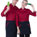 Uniforme do cozinheiro chefe do Workwear do outono da Longo-Luva do cozinheiro do algodão