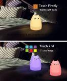lumière de nuit de détecteur de contact de silicones de décor de la pièce 7-Color
