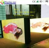 Visualización de la muestra de camino del LED para hacer publicidad bloqueada en el poste