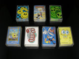 4 подгонянных углами карточки бумажных покера играя